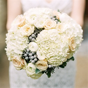 White and Gray Bridal Bouquet