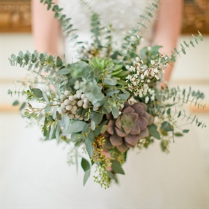 Succulent and Eucalyptus Bouquet