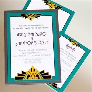 Art Deco Style Invitations