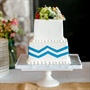 Blue and White Chevron Cake