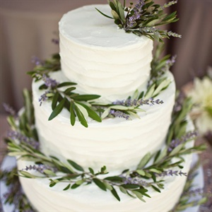 Fresh Lavender Adorned Cake