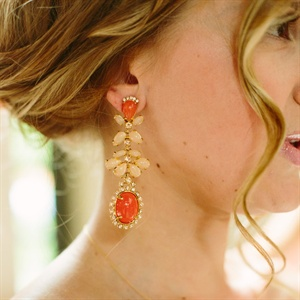 Coral Vintage Style Earrings