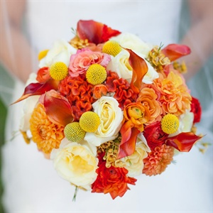Warm Fall Bridal Bouquet
