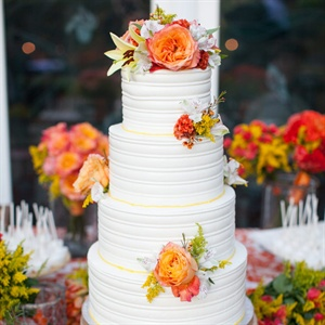 Decadent Fall Wedding Cake