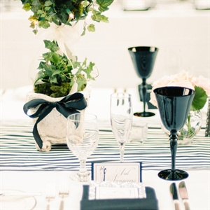 Modern Black and White Reception Decor
