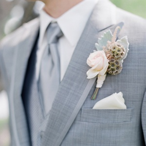 Rose and Scabiosa Boutonniere