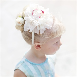Flower Girl Peony Headband