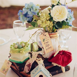 Personalized Vintage Centerpieces