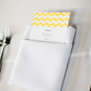 Yellow Chevron Menu Cards