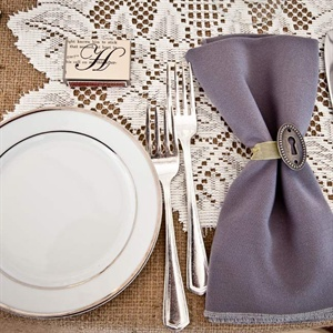 Burlap and Lace Linens