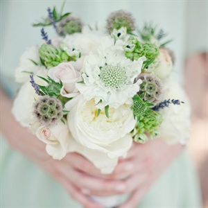 Peony and Scabiosa Bridesmaid Bouquet