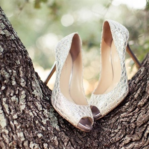 Silver and Gold Bridal Shoes