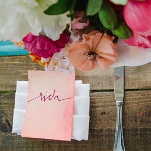 Coral Place Settings