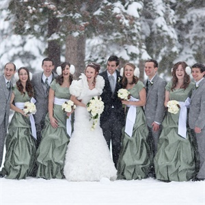 Green Floor Length Bridesmaid Dresses