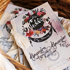 Hand-Painted Wedding Programs