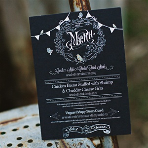 Chalkboard-Style Menu Card