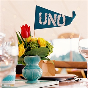 Pennant Style Table Numbers