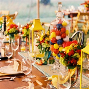 Colorful Table Display