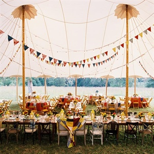 Festive Tented Reception