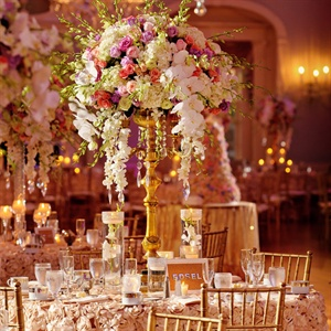 High Lush Floral Centerpieces