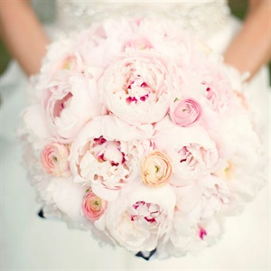 Katherine carried pale-pink peonies (her favorite flower!).