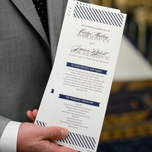 Navy Striped Ceremony Programs