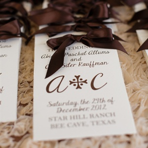 Simple Elegant Wedding Programs