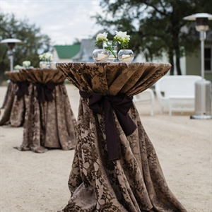 Elegant Brown Cocktail Table Linens