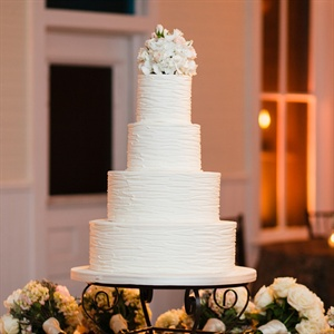 Clean Simple Wedding Cake
