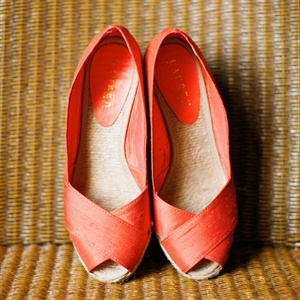 Orange Peep-Toe Shoes