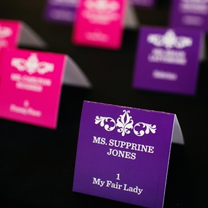 Purple and Pink Escort Cards