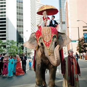 Traditional Hindu Baraat Procession
