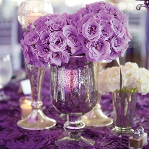 Mercury Glass Centerpieces