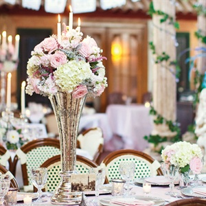 Pink, Gold and Cream Centerpieces