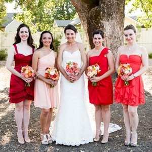 Colorful Bridesmaid Look
