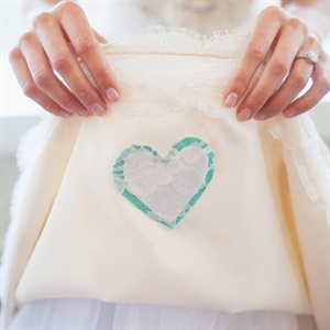Sentimental Layered Fabric Heart Detail