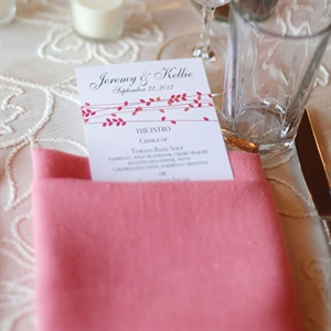 Coral and Ivory Table Decor