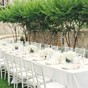 Elegant White Reception Table