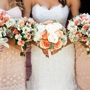 Peach and Ivory Bridal Bouquet