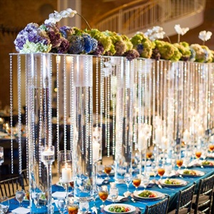 Hydrangea and Orchid Reception Decor