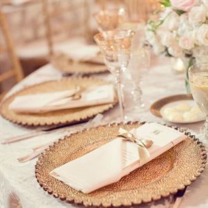 Gold and Ivory Table Decor
