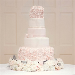 Feminine Blush Wedding Cake