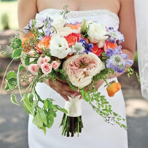 Soft Cascading Bridal Bouquet