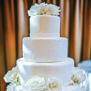 Marshmallow Fondant Wedding Cake