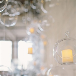 Suspended Glass Bubble Ceremony Decor