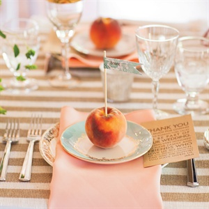Peach Escort Cards