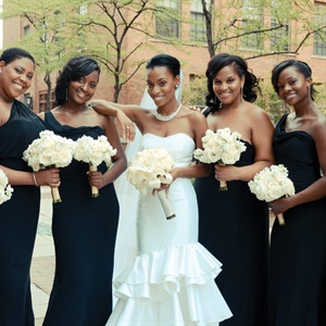 Black One Shoulder Bridesmaid Dresses
