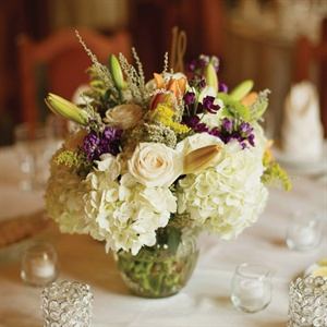 Multicolored Floral Centerpieces