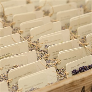 Lavender Filled Escort Card Display
