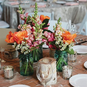 Vibrant Garden Inspired Centerpieces